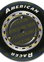 1/8 Late Model Wheel Decals – Carbon Plate w/ AR-Type Tires