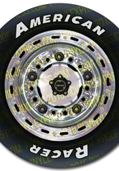1/8 Late Model Wheel Decals – Chrome Rim w/ AR-Type Tires