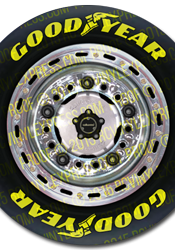 1/8 Late Model Wheel Decals – Chrome Rim w/ G-Type Tires